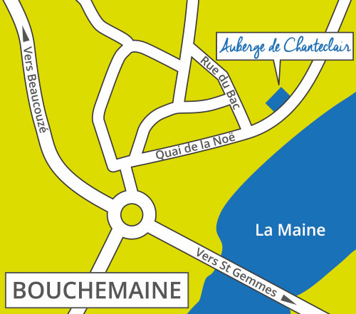 plan acces restaurant bouchemaine